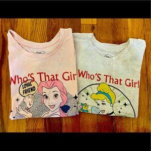 Little Eleven Paris X Disney princess. 2 T-shirt's